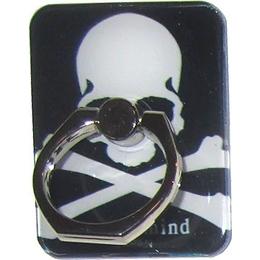 Крепление-кольцо Present U-050 Black White (череп с костями, металл, пластик)