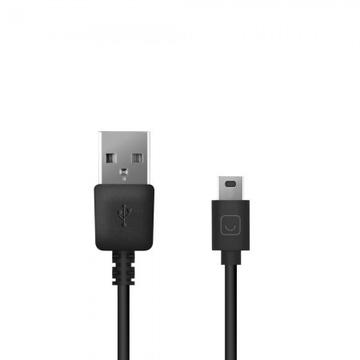 Кабель Prime Line 7203 Black (1.2m, кабель-дата, miniUSB)