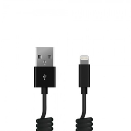 Кабель Prime Line 7206 Black (1.5m, Lightning, USB, витой провод)
