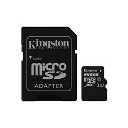 MicroSDXC 256Гб Kingston Класс 10 UHS-I 45MB/s (адаптер)