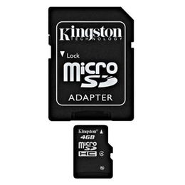 MicroSDHC 04Гб Kingston Класс 4 (адаптер)