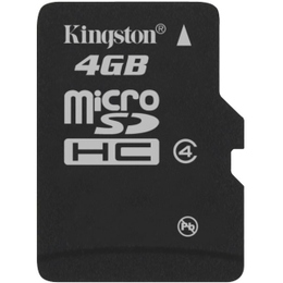 MicroSDHC 04Гб Kingston Класс 4 (без адаптера)