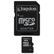 MicroSDHC 08Гб Kingston Класс 4 (адаптер)
