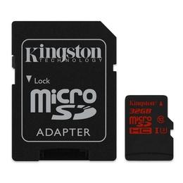 MicroSDHC 32Гб Kingston Класс 10 UHS-I U3 (адаптер)
