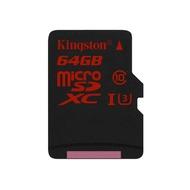 MicroSDXC 64Гб Kingston Класс 10 UHS-I U3 (адаптер)