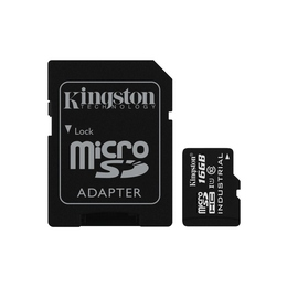 MicroSDHC 16Гб Kingston Класс 10 Industrial Temp (адаптер)