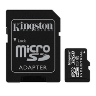 MicroSDHC 32Гб Kingston Класс 10 Industrial Temp (адаптер)
