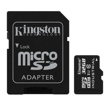 MicroSDHC 32Гб Kingston Класс 10 Industrial Temp (адаптер)