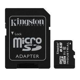 MicroSDHC 08Гб Kingston Класс 10 Industrial Temp (адаптер)