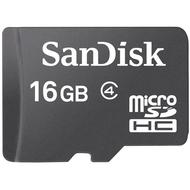 MicroSDHC 16Гб Sandisk Класс 4 (без адаптера)