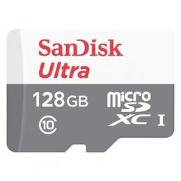 MicroSDXC 128Гб Sandisk Класс 10 UHS-I Ultra Android 48MB/s (адаптер)