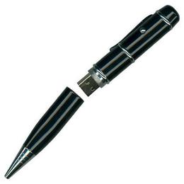 Оригинальная подарочная флешка SuperTalent NG-BK 4GB Black (ручка металлическая в жестяном футляре)