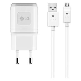 Зарядное устройство LG TAU-320 White (сетевое, 1,8A, кабель microUSB)
