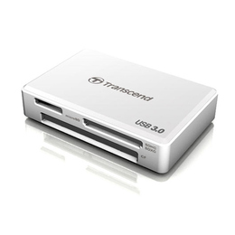 Card reader Transcend F8 White (USB3.0 для карт памяти SDHC, SDXC, CF, MS M2, MS PRO Duo, MSXC)