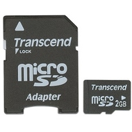 MicroSD 02Гб Transcend (адаптер)