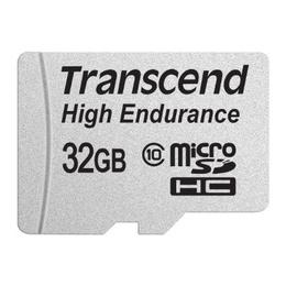 MicroSDHC 32Гб Transcend Класс 10 UHS-I High Endurance (адаптер)