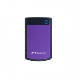 """Внешний жесткий диск 4 тб Transcend StoreJet 25H3 Black Purple (2.5"""", USB3.0, прорезиненный корпус)"""