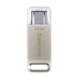 Накопитель USB3.1 Transcend Jetflash 850 64 гб Silver