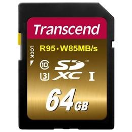 SDXC 64Гб Transcend Класс 10 UHS-I U3X Ultimate