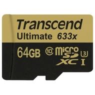 MicroSDXC 64Гб Transcend Класс 10 UHS-I U3 (адаптер)