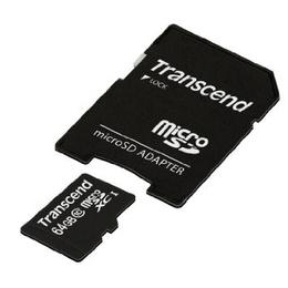 MicroSDXC 64Гб Transcend Premium 300x Класс 10 UHS-I (адаптер)
