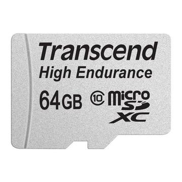MicroSDXC 64Гб Transcend Класс 10 UHS-I High Endurance (адаптер)