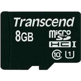 MicroSDHC 08Гб Transcend Класс 10 UHS-I (без адаптера)