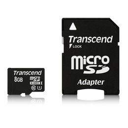 MicroSDHC 08Гб Transcend Класс 10 UHS-I (Premium, SD адаптер)
