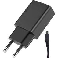 Зарядное устройство Alcatel UC17 Black (сетевое, 3A, кабель microUSB)