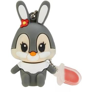 Оригинальная подарочная флешка Present ANIMAL28 04GB Grey (зайчик)