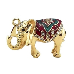 Оригинальная подарочная флешка Present ANIMAL33 128GB (слон с накидкой для верховой езды)