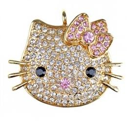 Оригинальная подарочная флешка Present ANIMAL43 04GB Gold (голова кошки)