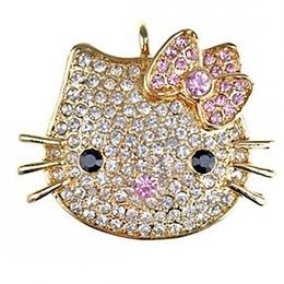 Оригинальная подарочная флешка Present ANIMAL43 64GB Gold (голова кошки)