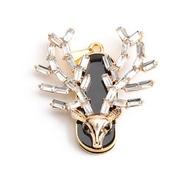 Оригинальная подарочная флешка Present ANIMAL05 128GB Gold (голова оленя с ветвистыми рогами)