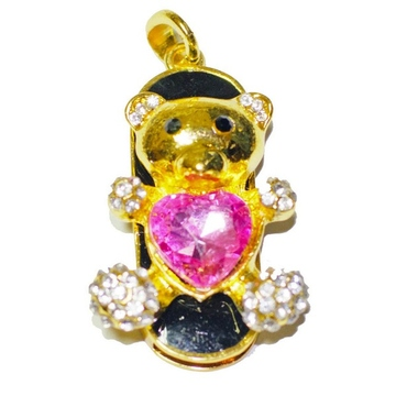 Оригинальная подарочная флешка Present ANIMAL52 16GB Pink (мишка с розовым сердечком)