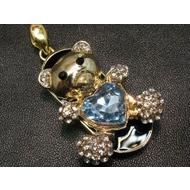 Оригинальная подарочная флешка Present ANIMAL52 64GB Light Blue (мишка с синим сердечком)