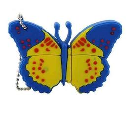 Оригинальная подарочная флешка Present ANIMAL06 128GB Blue (бабочка)