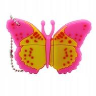 Оригинальная подарочная флешка Present ANIMAL06 128GB Pink (бабочка)