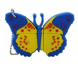 Оригинальная подарочная флешка Present ANIMAL06 04GB Blue (бабочка)