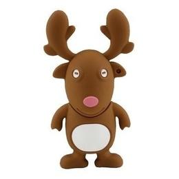 Оригинальная подарочная флешка Present ANIMAL60 04GB (олень из упряжки Санта Клауса, без блистера)