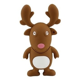 Оригинальная подарочная флешка Present ANIMAL60 16GB (олень из упряжки Санта Клауса, без блистера)