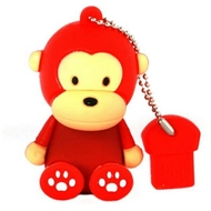 Оригинальная подарочная флешка Present ANIMAL64 128GB Red (обезьянка)