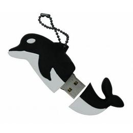 Оригинальная подарочная флешка Present ANIMAL65 128GB Black (дельфин)