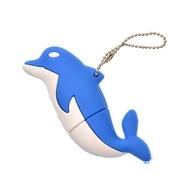 Оригинальная подарочная флешка Present ANIMAL65 128GB Blue (дельфин)
