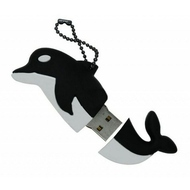 Оригинальная подарочная флешка Present ANIMAL65 32GB Black (дельфин)