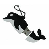 Оригинальная подарочная флешка Present ANIMAL65 04GB Black (дельфин)