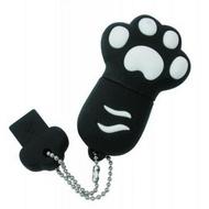 Оригинальная подарочная флешка Present ANIMAL82 128GB Black (кошачья лапка)