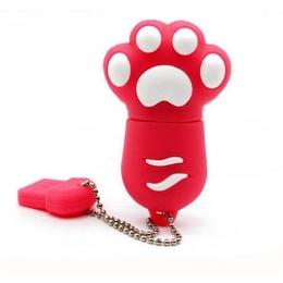 Оригинальная подарочная флешка Present ANIMAL82 128GB Red (кошачья лапка)