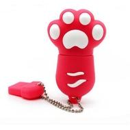 Оригинальная подарочная флешка Present ANIMAL82 04GB Red (кошачья лапка, без блистера)