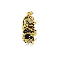 Оригинальная подарочная флешка Present ANIMAL83 128GB (золотой дракон со стразами, без блистера)